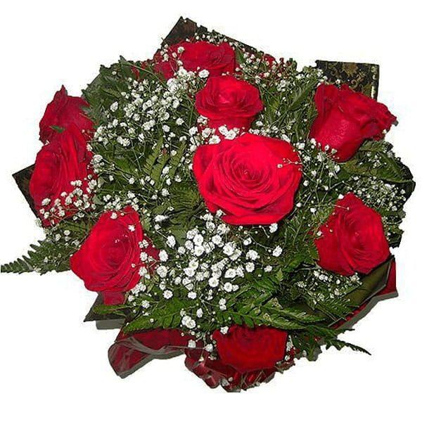 Buquê com 12 Rosas Colombianas Cima