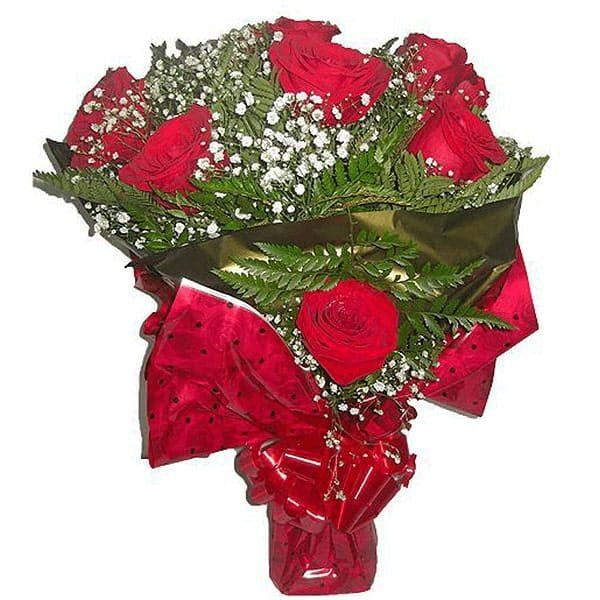 Buquê com 12 Rosas Colombianas Frente