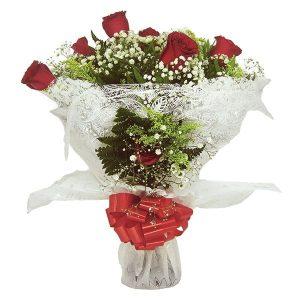 Buquê Amor com 6 Rosas Frente