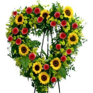 Coroa Coração de Girassol